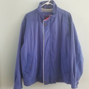 Vintage 90s Might-Mac blue and red utility jacket